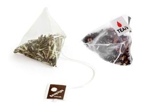 Nedbrytbara pyramidformade tepåsar fyllda med härligt kvalitetste! Gott te utan konstigheter.