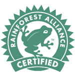 Certifierat enligt Rainforest Alliance