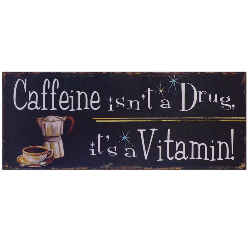 Plåttavla Caffeine
