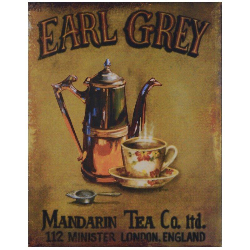 Plåttavla Earl Grey