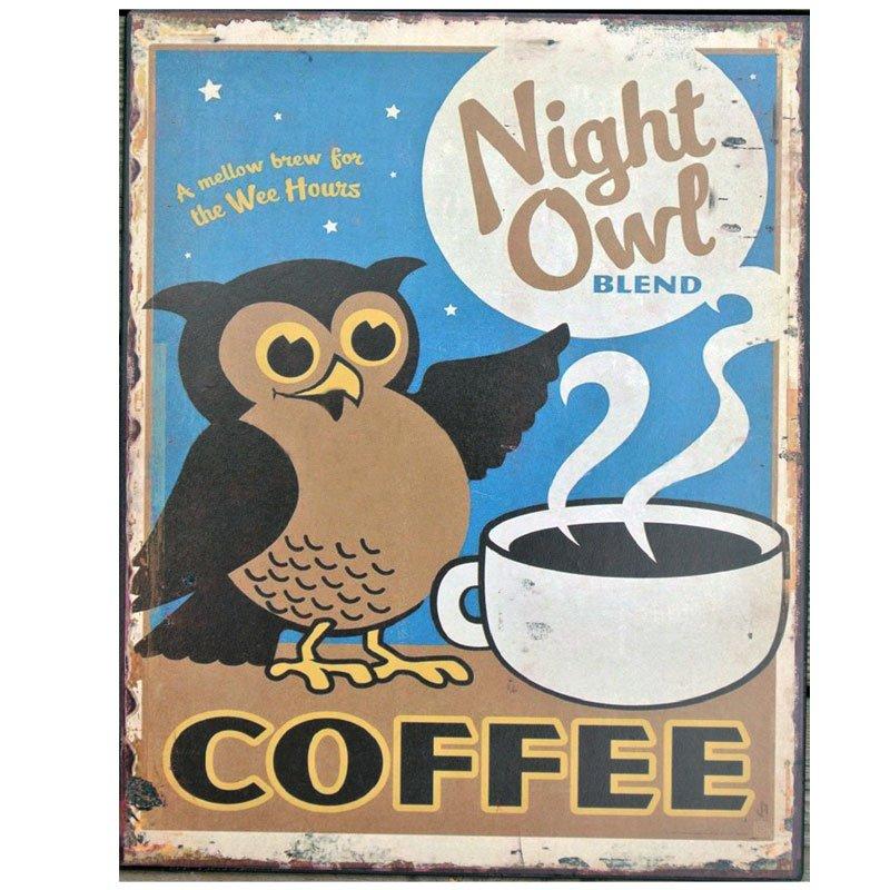 Plåttavla Night Owl