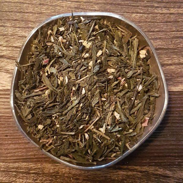 Rabarber och grädde - grönt te