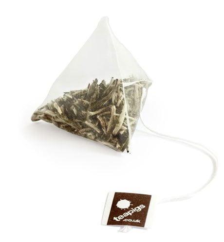 Teapigs - påste från England. Nedbrytningsbara pyramidpåsar fyllda med kvalitetste, fritt från besprutningsmedel och andra konstigheter.