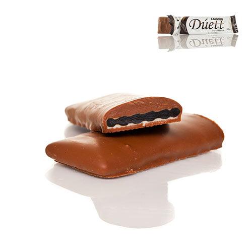 Lakkris Duett - Platta av isländsk lakrits överdragen med choklad som smälter i munnen.