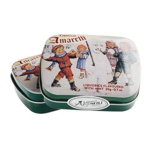 Favette Lattina, Inverno är 100 % ren lakrits med mintsmak från Amarelli. En naturlig produkt gjord av kalabrisk lakritsrot från södra Italien.