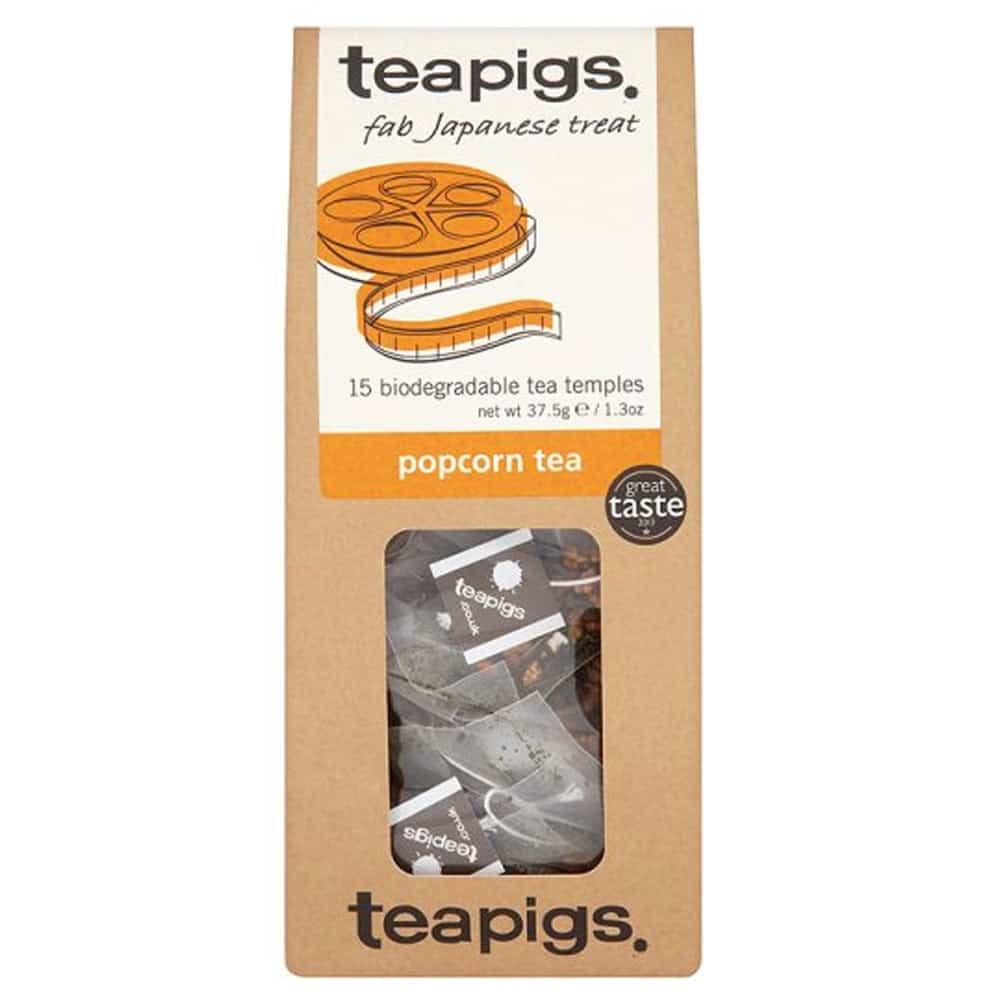 Teapigs Popcorn Tea - Grönt te med rostade riskorn. En unik blandning med nötig underton, beskrivs som Kalaspuffar i kopp.