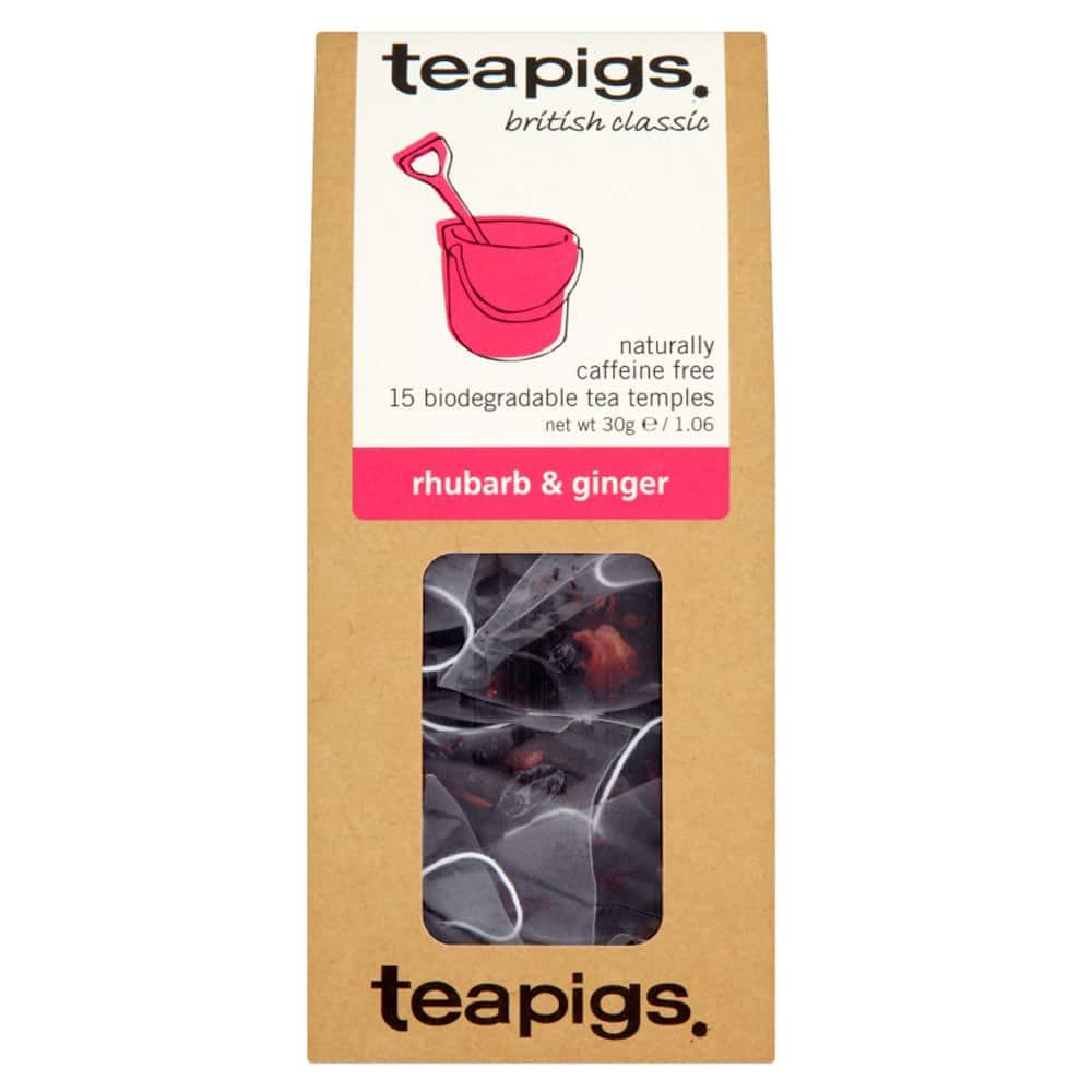 Rabarberälskare, detta är till er! Teapigs Rhubarb & Ginger är ett syrlig och kryddigt örtte som innehåller bitar av rabarber och ingefära.