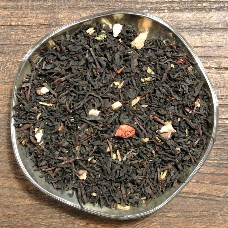 Lakrits och hallon - svart te