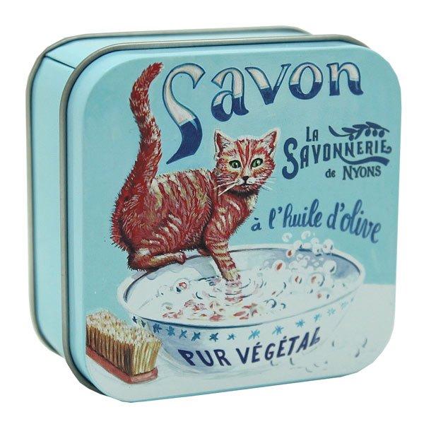 Savon Chat Roux - Fransk tvål i plåtask 100g