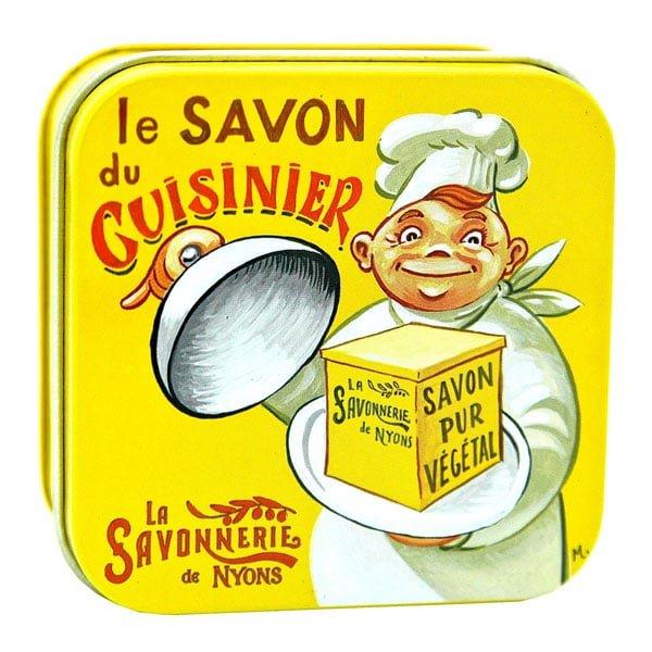 Kökstvål anti-lukt - Fransk tvål i plåtask 100g