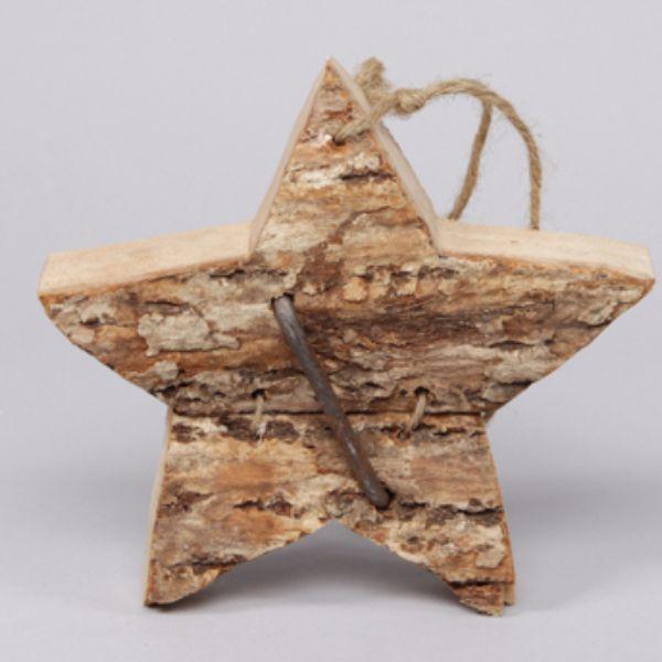 Hängdekoration i trä, stjärna