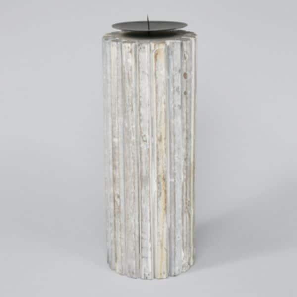 Blockljusstake i trä, 29 cm