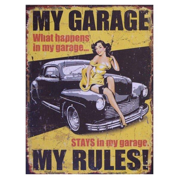 Plåttavla My Garage