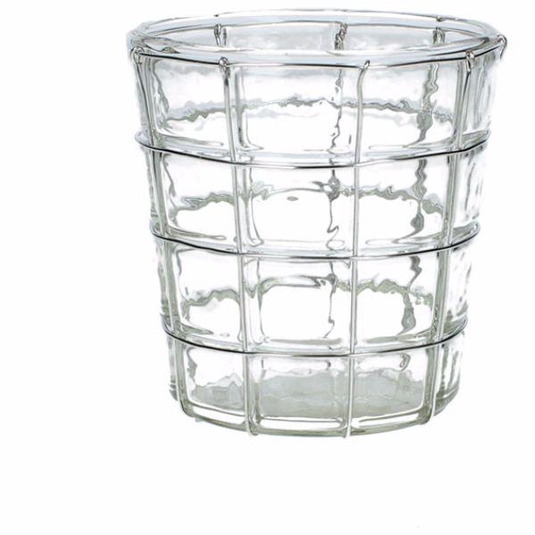 Ljuslykta glas/silver
