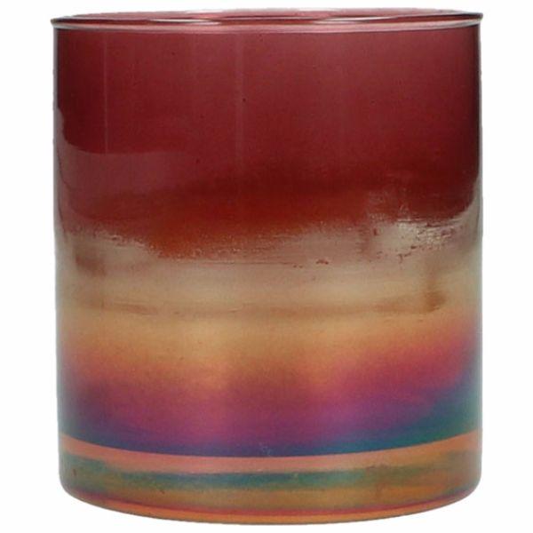 Ljuslykta flerfärgad, 9 cm