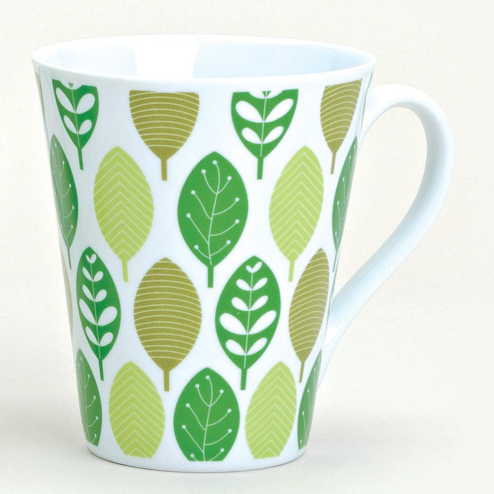 Mugg med gröna löv