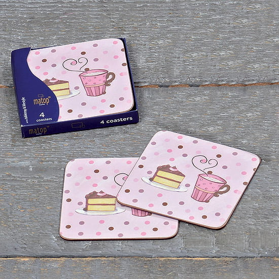 "Coasters ""Fika"", 4 st/set"