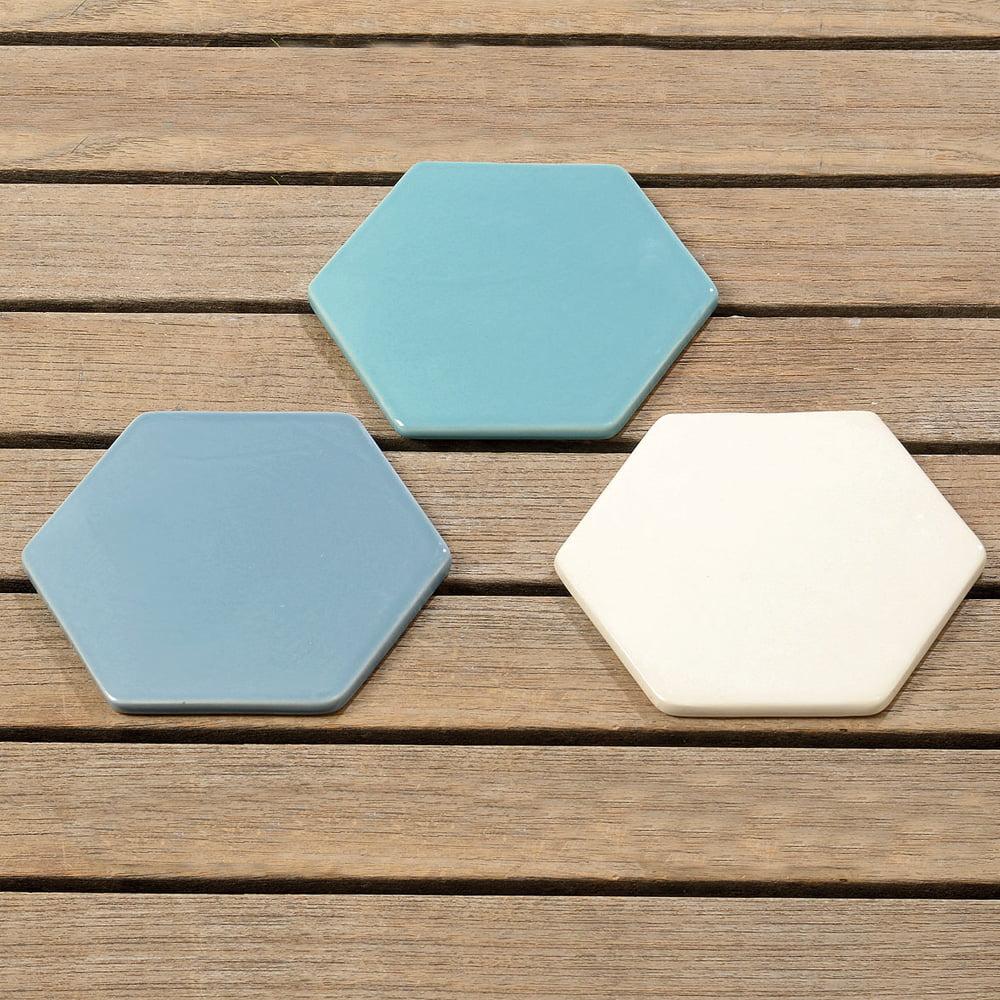 Glasunderlägg i keramik 3 st/set
