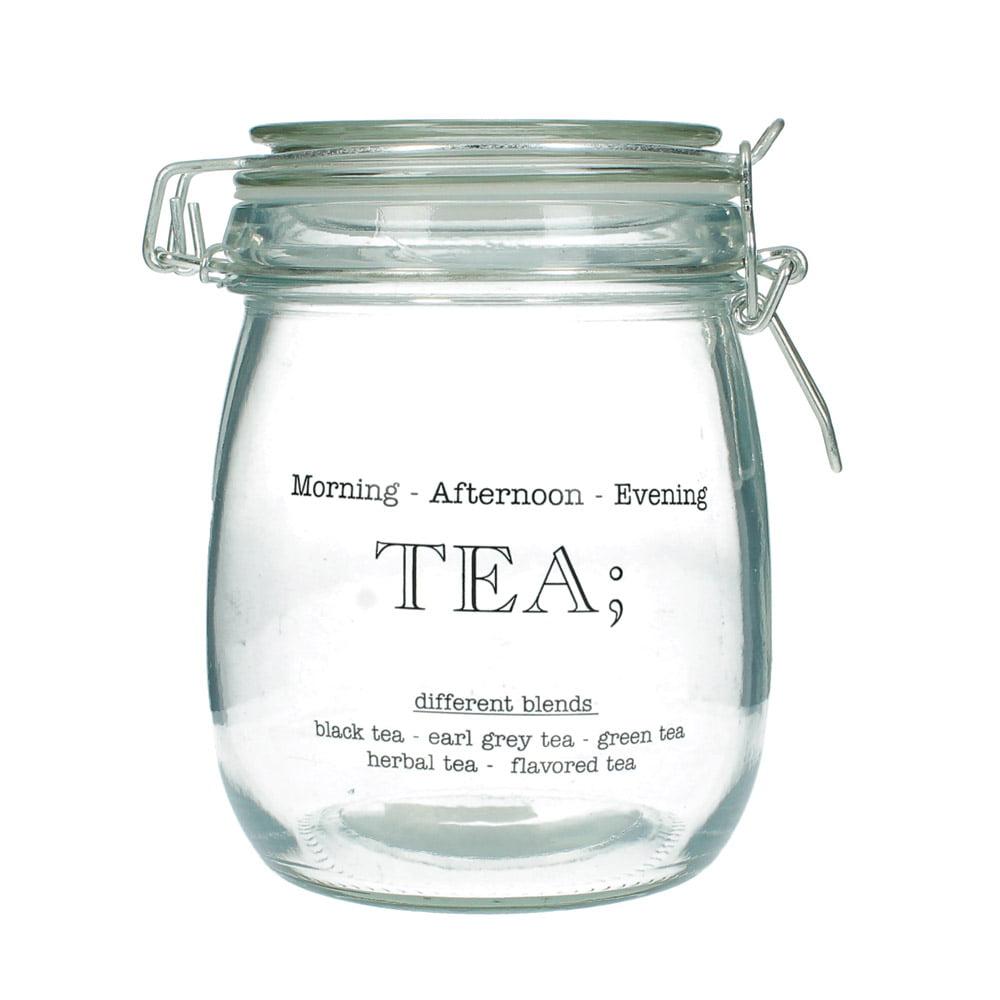 """Glasburk med snäpplock """"Tea"""""""