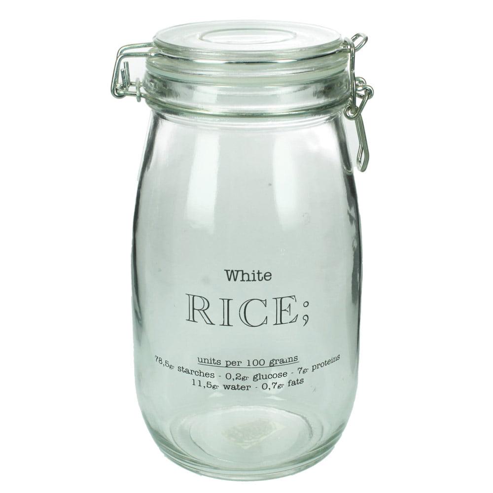 """Glasburk med snäpplock """"Rice"""""""