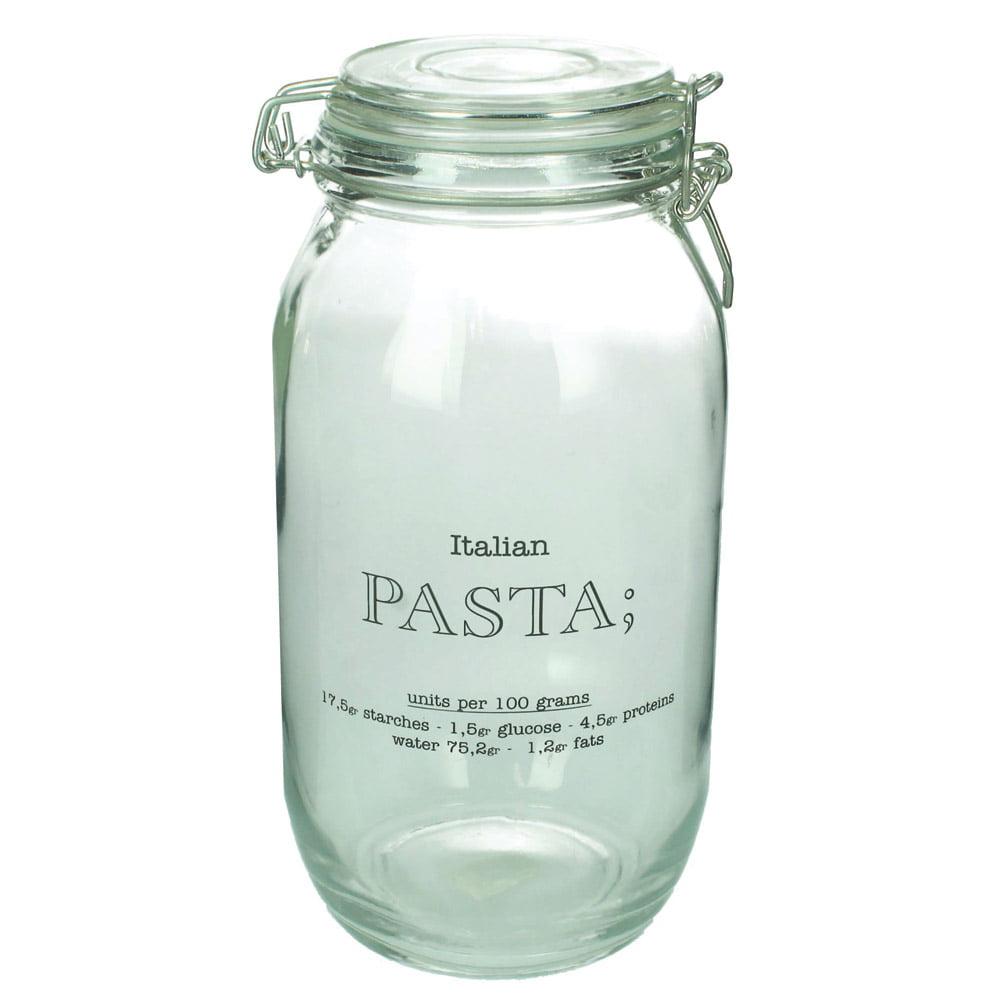 """Glasburk med snäpplock """"Pasta"""""""