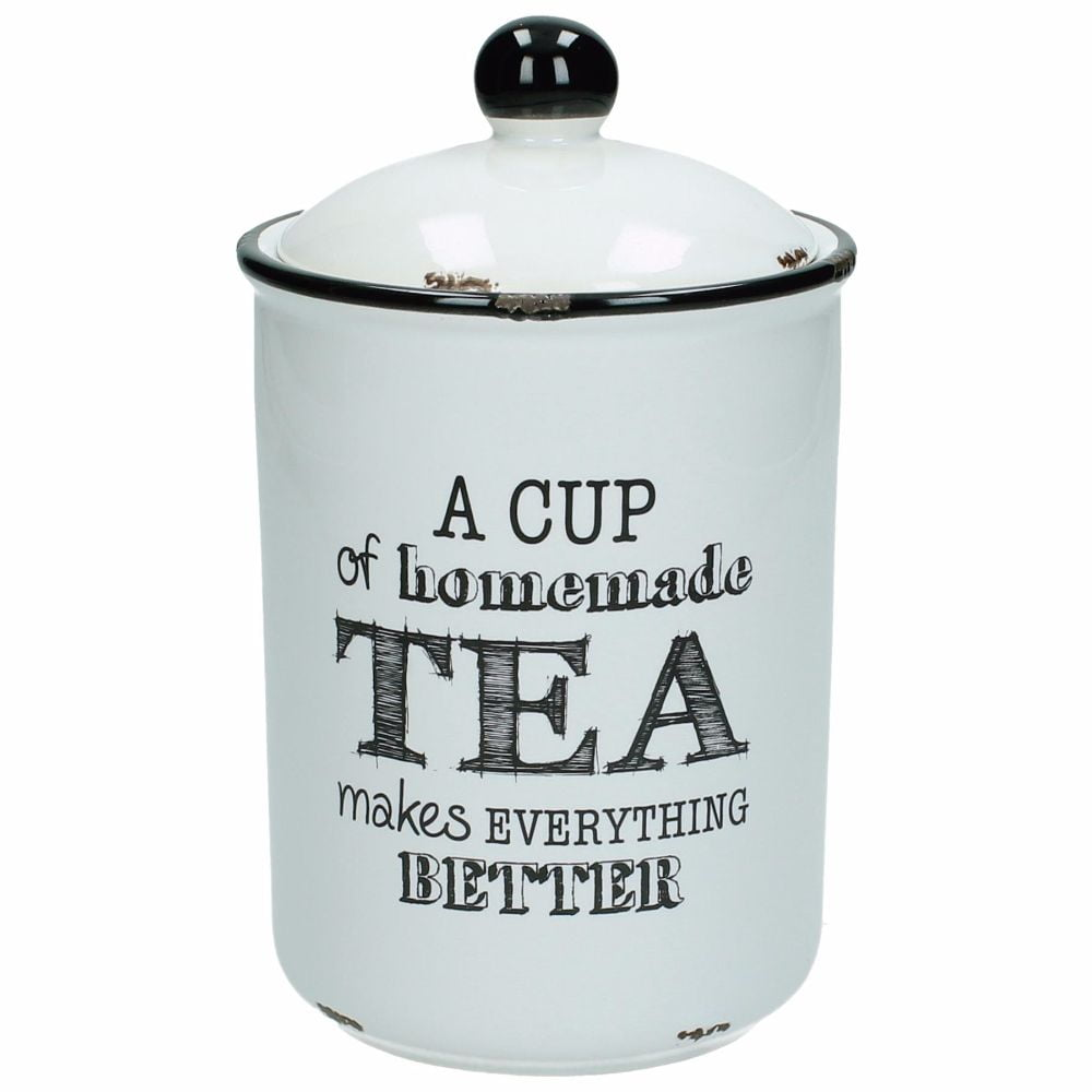 "Keramikburk ""Tea makes everything better"""