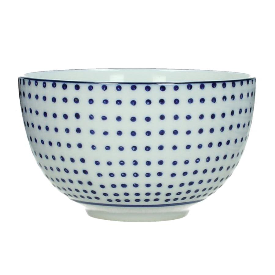 Frukostskål blå prickig
