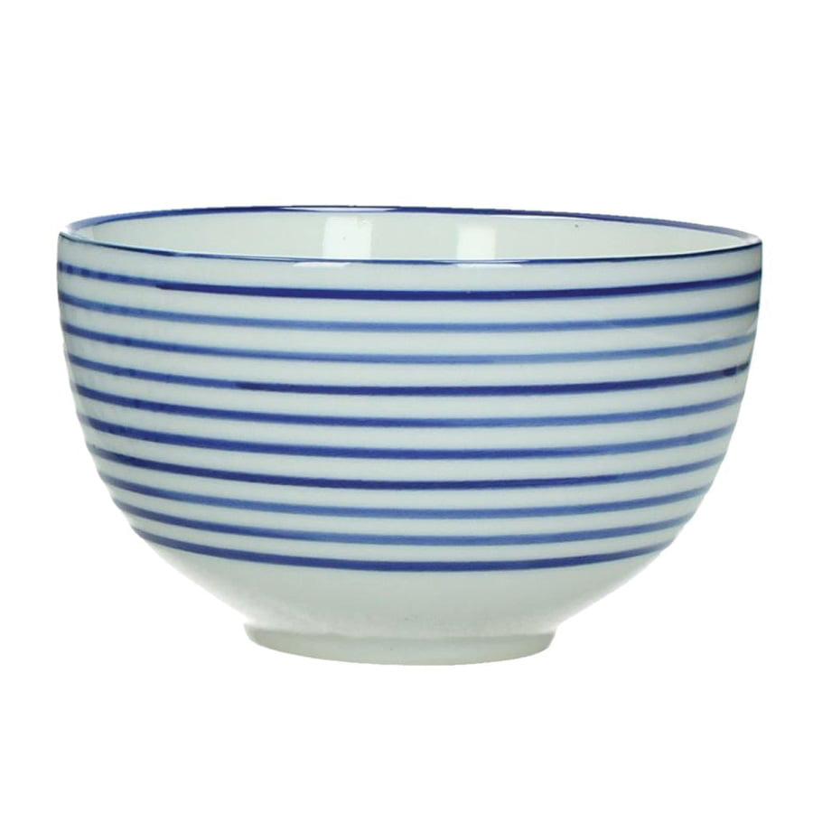 Frukostskål blå randig