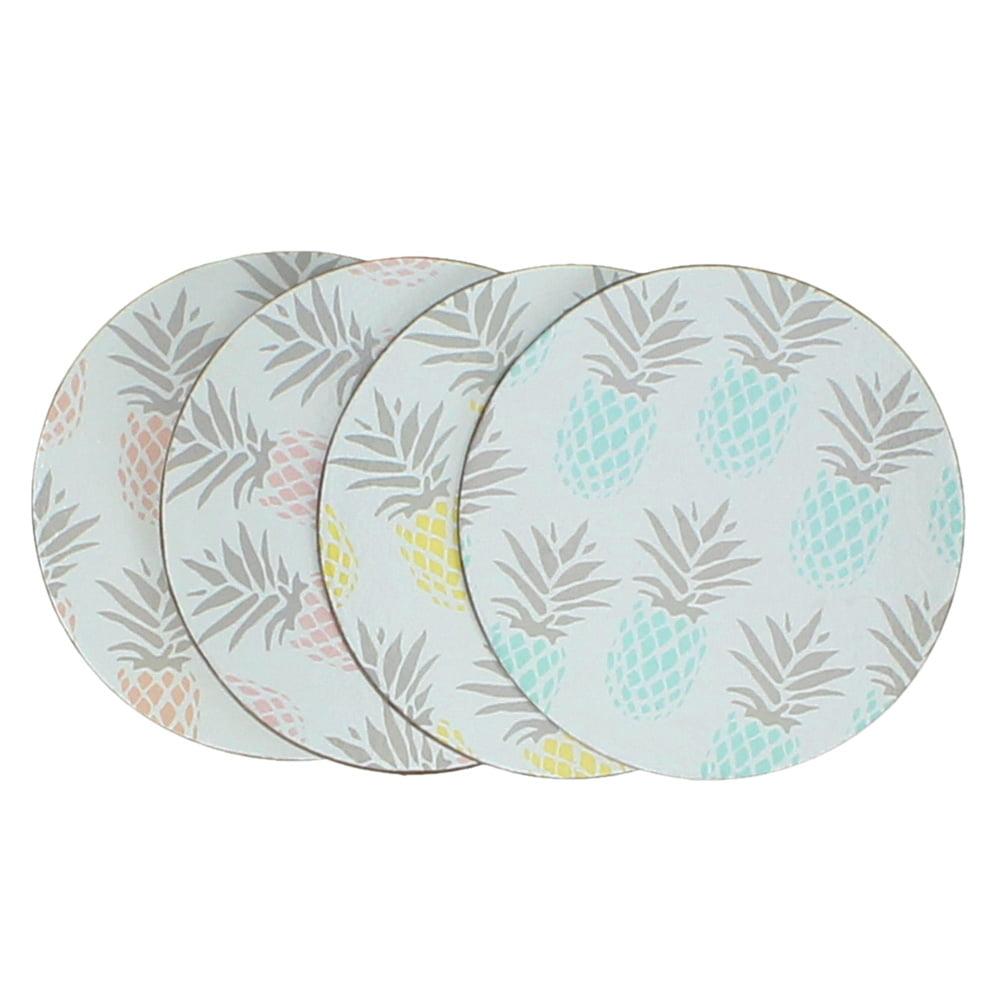 Glasunderlägg Ananas, 4 st/set