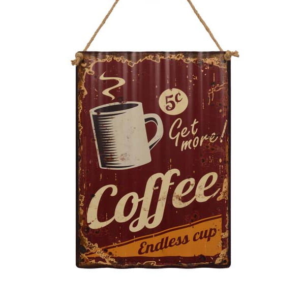 """Tavla i korrugerad plåt """"Coffee"""""""
