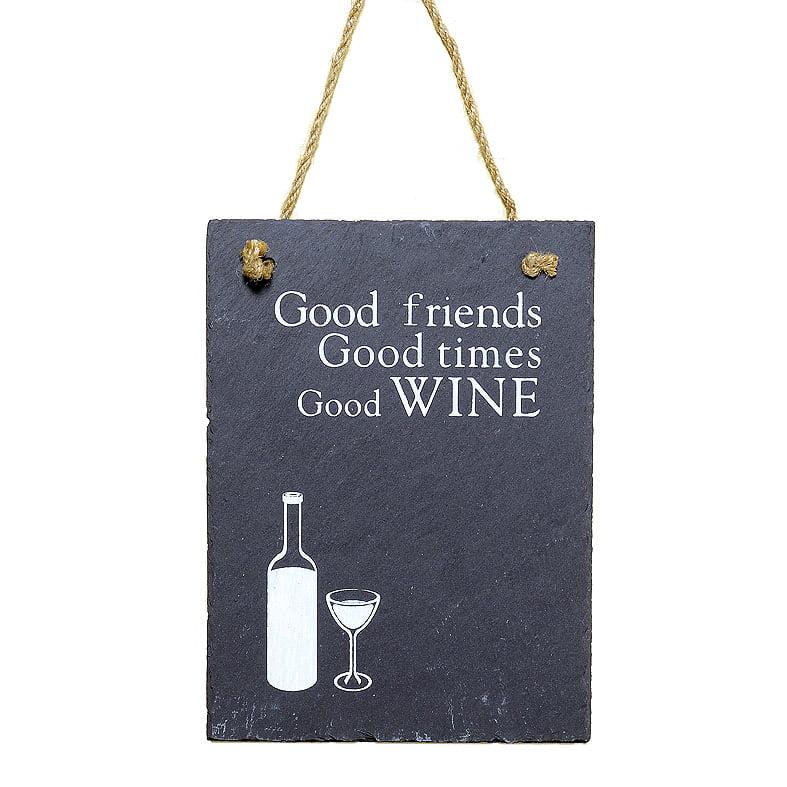 Skiffertavla – Good wine