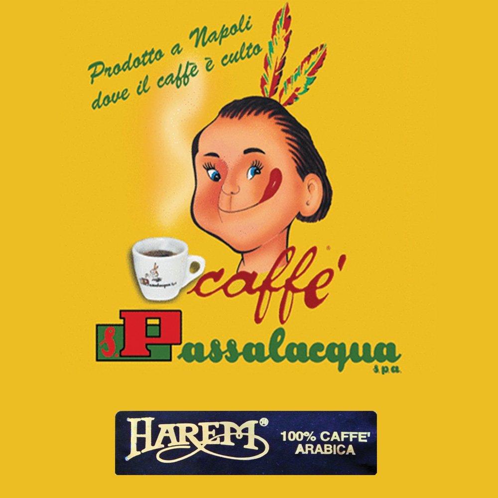 Passalacqua Harem är italienskt espressokaffe med en blandning av världens 10 bästa Arabicabönor. En av de populäraste kaffebönorna från Passalacqua.