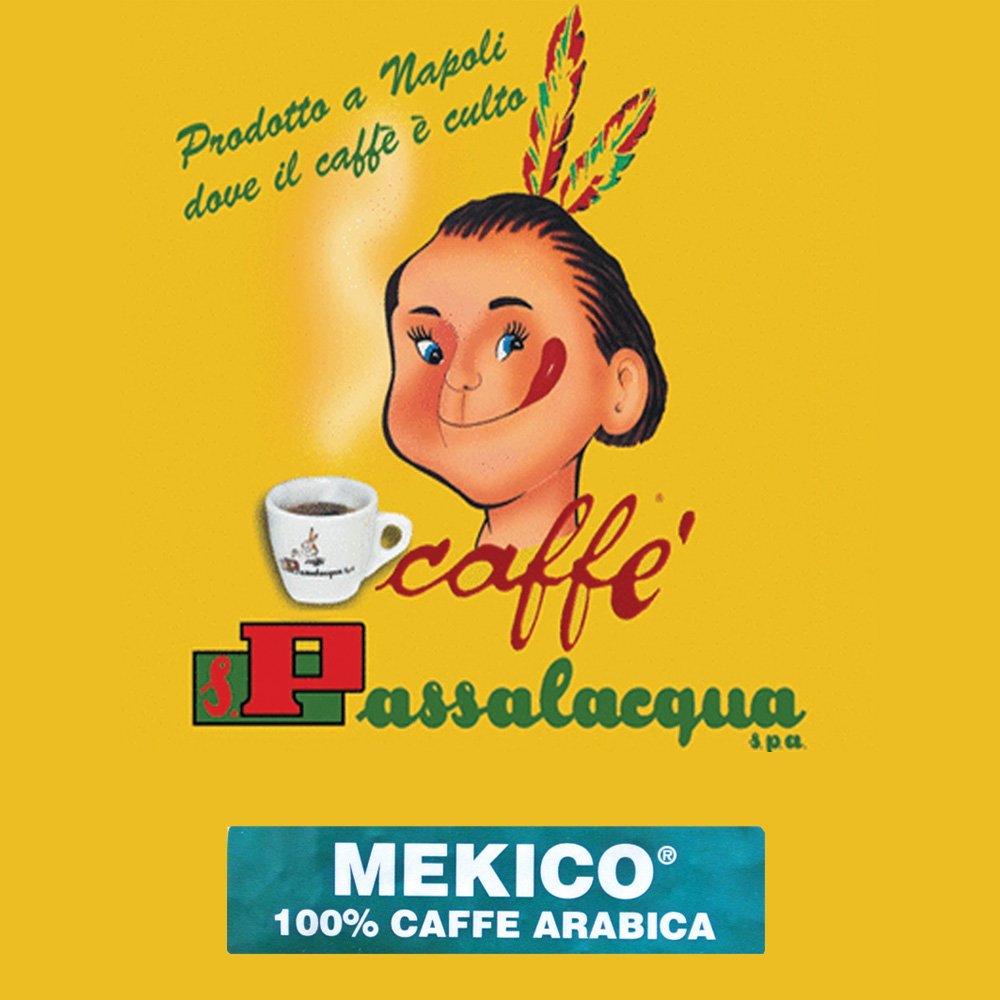 Passalacqua Mekico är italienskt espressokaffe med distinkt smak och oväntad sötma. Fruktigt med inslag av karamell, hasselnöt och choklad.
