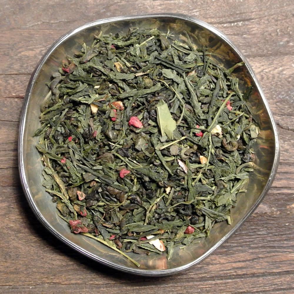 Fruktigt och friskt grönt te av sencha smaksatt med hallon och citrus. Även gott som iste.
