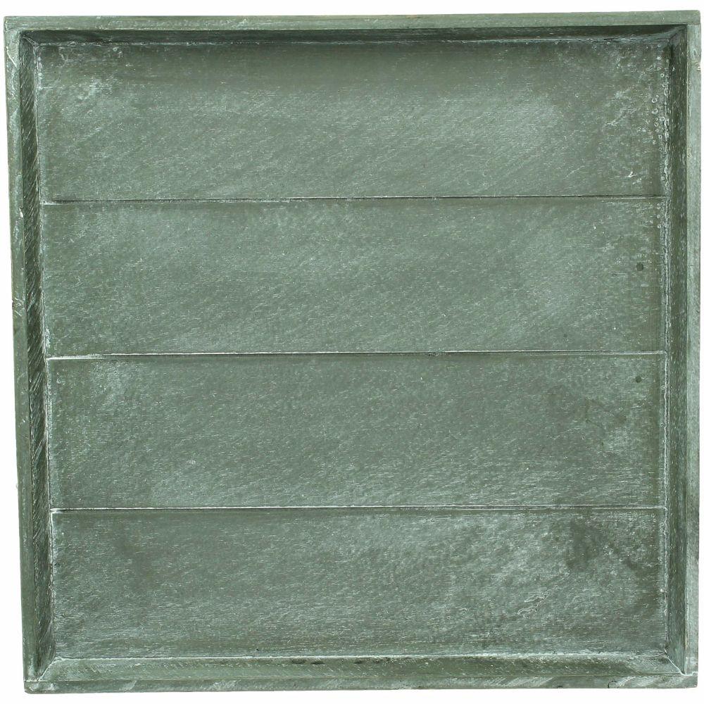 Bricka i trä grå 38x38 cm