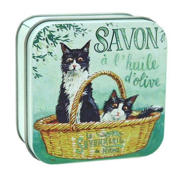 Savon Chat Noir et Blanc – Fransk tvål i plåtask 100g