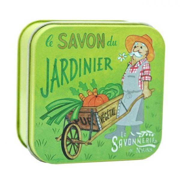 Trädgårdstvål – Fransk tvål i plåtask 100g