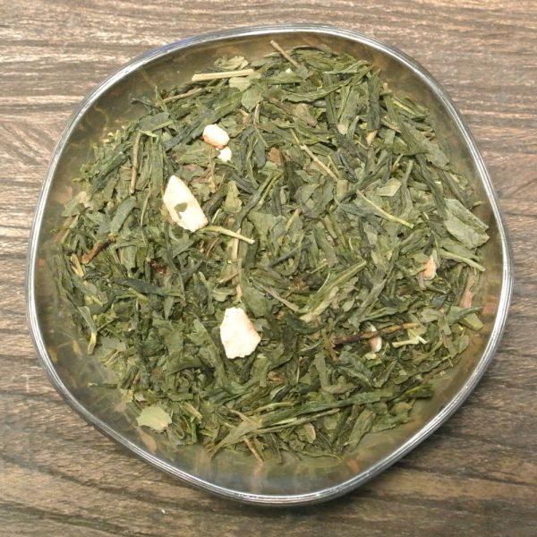 Grönt te med fräscha smaker av citron och mint. Innehåller bl a pepparmynta och citronbitar.
