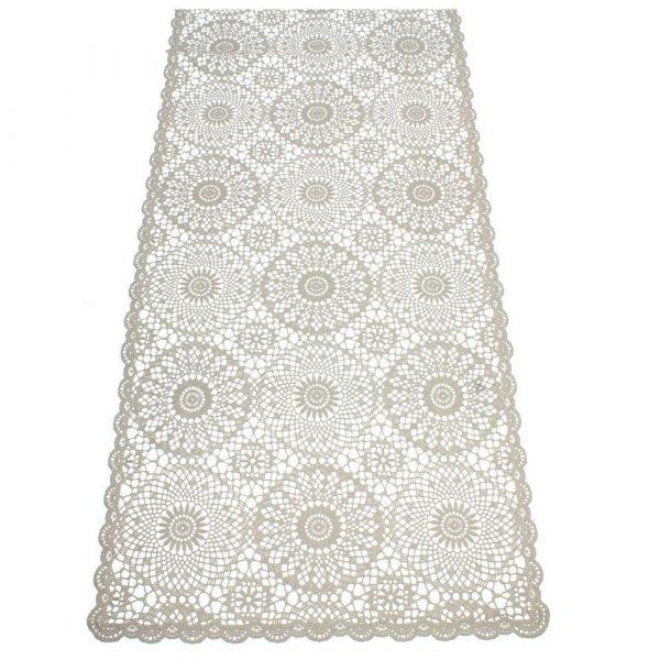 Bordslöpare i PVC grå 40x150 cm