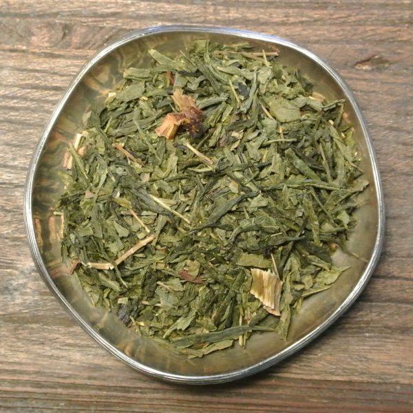 Rabarberkompott är ett ekologiskt grönt te med smak av underbara rabarber och vanilj.