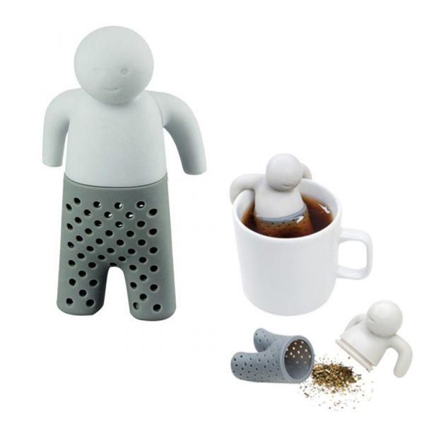 Mr Tea tesil i form av en gubbe i silikon. Lätt att göra ren, tål hög värme och maskindisk. Mått 8,5x5x3,5 cm.