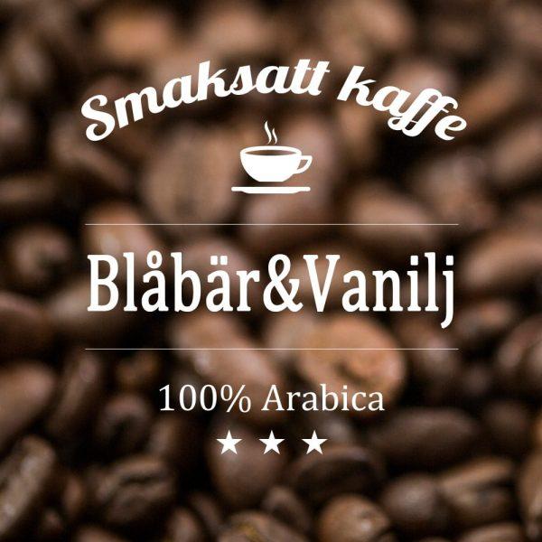 Arabicakaffe smaksatt med blåbär och vanilj. Ett somrigt kaffe med fruktiga och söta smaker.