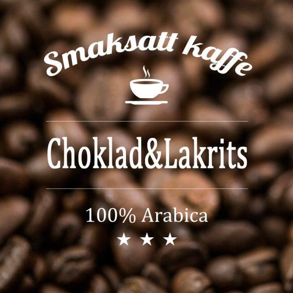 Choklad och lakrits - smaksatt kaffe