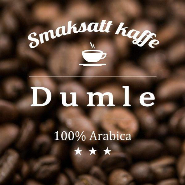 Arabicakaffe med smak av smörkola likt Dumlegodisen. Ett bra efter-maten-kaffe med inslag av sötma.