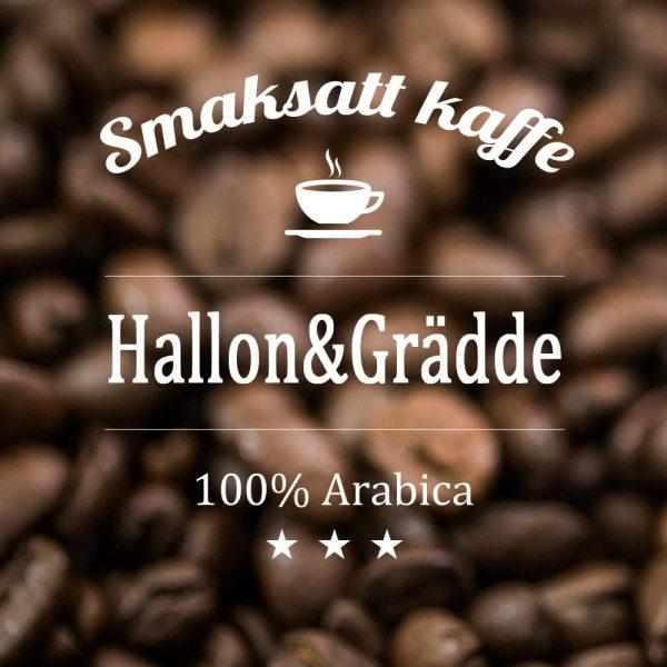 Hallon och grädde - smaksatt kaffe