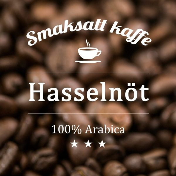 Hasselnöt - smaksatt kaffe