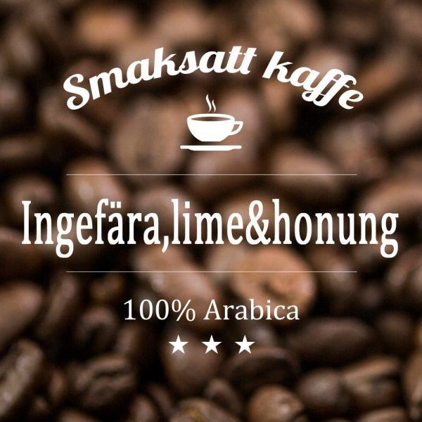 Arabicakaffe smaksatt med ingefära, lime och honung.Ett nytt och spännande kaffe med både sting och sötma.