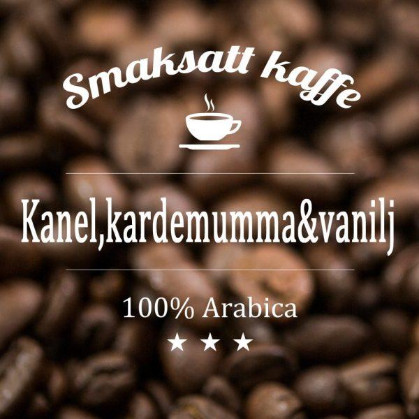 Kanel, kardemumma och vanilj - smaksatt kaffe