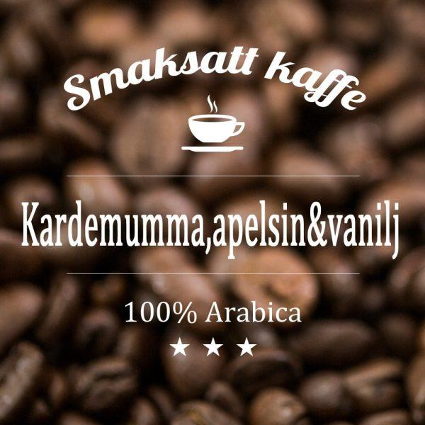 Arabicakaffe medden utsökta smakkombinationen kardemumma, apelsin och vanilj.