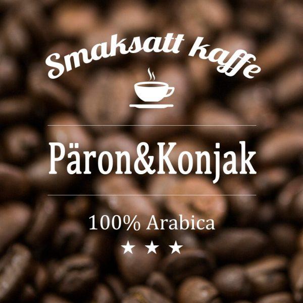 Kaffe med smak av päron och konjak. En välsmakande och värmande dryck med både sötma och kraft.